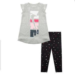 Nike Baby Girls Flutter Sleeve Tunic and Leggings